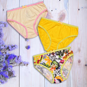 Girls Briefs - Tropical Print - Pack of 3