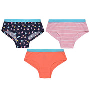 Girls Hipster Briefs - Stars and Stripes Print - Pack of 3
