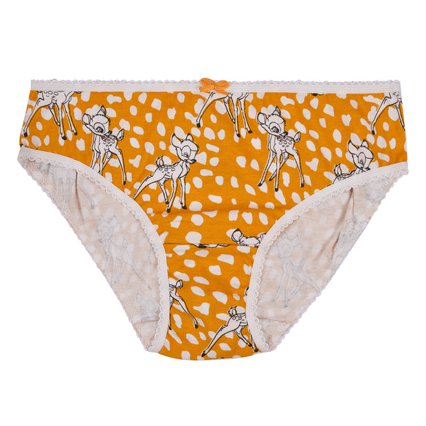 Girl's Cotton Briefs -Deer Print-  Pack of 3
