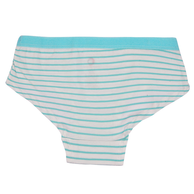 Girl's Hipster - Solid and Stripes - Pack of 3