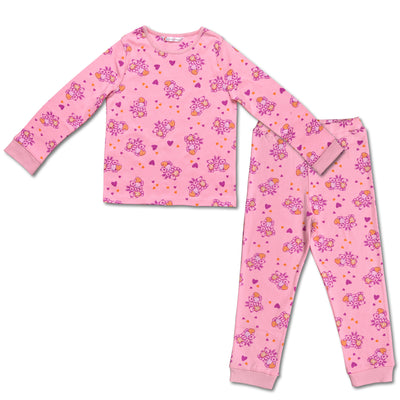 Girls Pyjamas -Teddy Print-  Top and Bottom - Pack of 1