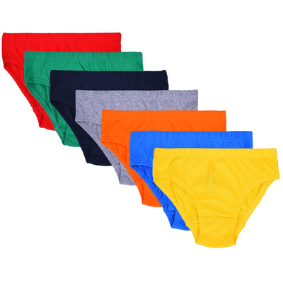 Boys Briefs - Multicolored Combo - Pack of 7