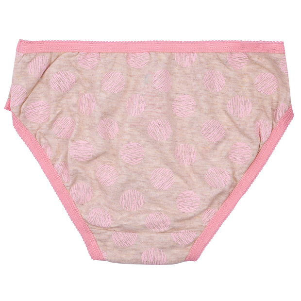 Girls Briefs - Pink and Gray Cats Print - Pack of 3