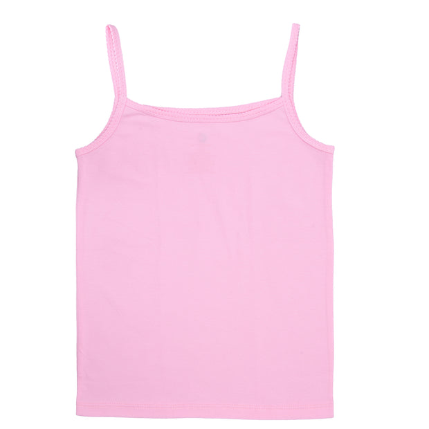 Girls Cami Vests - Solid Plain White and Pink - Pack of 2