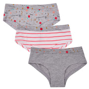 Girls Hipster Briefs - Multi Print - Pack of 3