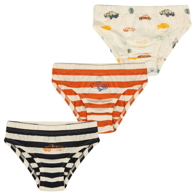 Boy's  Brief - Car Print-Pack of 3