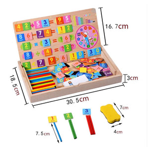 Montessori Multifunctional Magnetic Wooden Learning Box