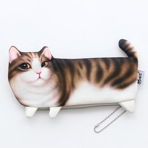 Cartoon Cat Soft Pencil Case