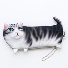 Load image into Gallery viewer, Cartoon Cat Soft Pencil Case