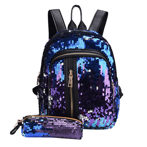 Fashion Girl Sequins Backpack
