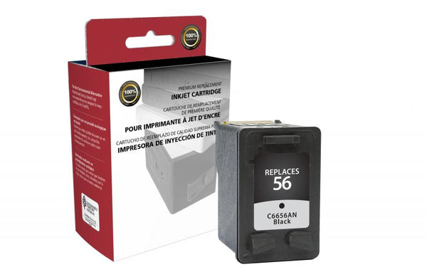 CIG Remanufactured Black Ink Cartridge for HP C6656AN (HP 56)