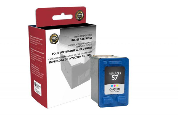 CIG Remanufactured Tri-Color Ink Cartridge for HP C6657AN (HP 57)