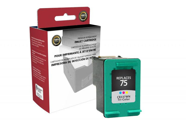 CIG Remanufactured Tri-Color Ink Cartridge for HP CB337WN (HP 75)