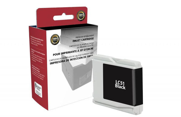 CIG Remanufactured Black Ink Cartridge for Brother LC51