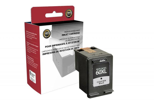 CIG Remanufactured High Yield Black Ink Cartridge for HP CC641WN (HP 60XL)