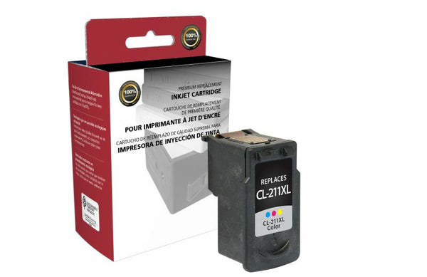 CIG Remanufactured High Yield Color Ink Cartridge for Canon CL-211XL