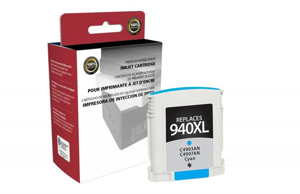 CIG Remanufactured High Yield Cyan Ink Cartridge for HP C4907AN (HP 940XL)