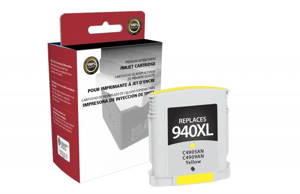 CIG Remanufactured High Yield Yellow Ink Cartridge for HP C4909AN (HP 940XL)