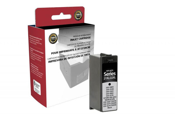 CIG Remanufactured High Yield Black Ink Cartridge for Dell Series 21XL/22XL