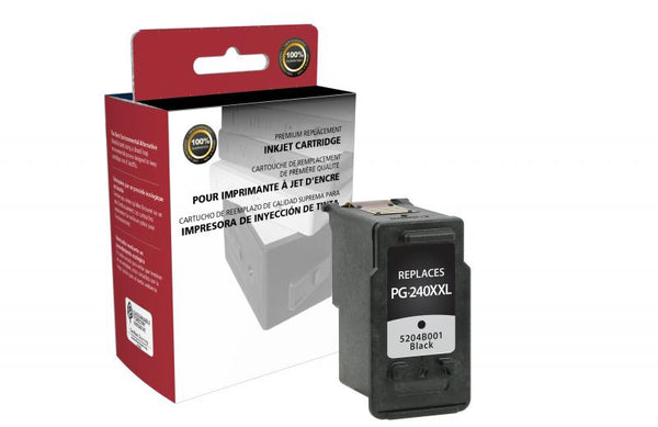 CIG Remanufactured Extra High Yield Black Ink Cartridge for Canon PG-240XXL