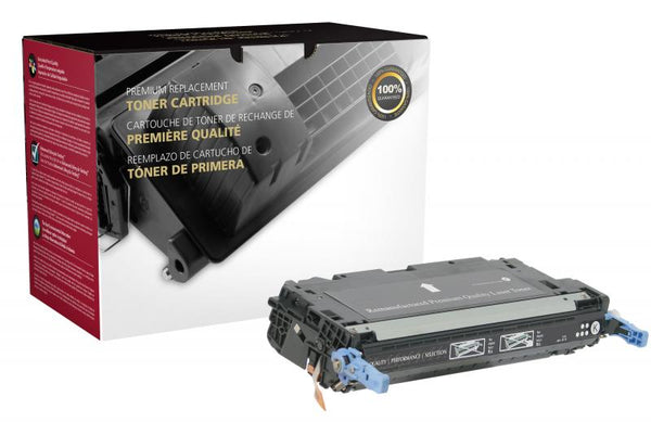 CIG Remanufactured Black Toner Cartridge for HP Q6470A (HP 501A)