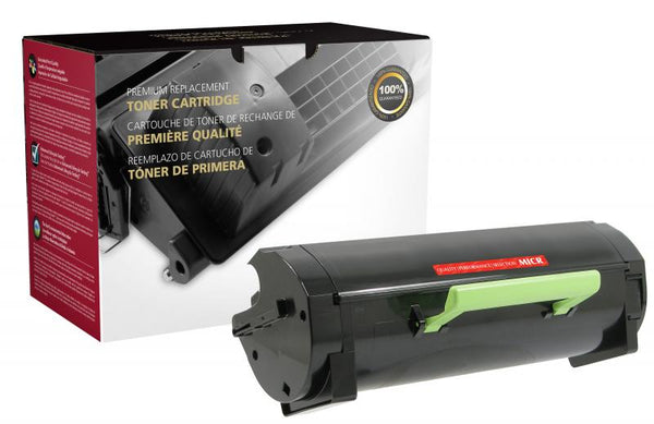 CIG Remanufactured Ultra High Yield MICR Toner Cartridge for Lexmark MS510/MS610