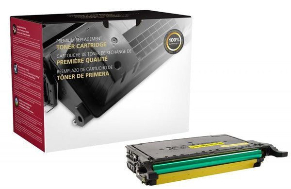 CIG Remanufactured High Yield Yellow Toner Cartridge for Samsung CLT-Y508L/CLT-Y508S