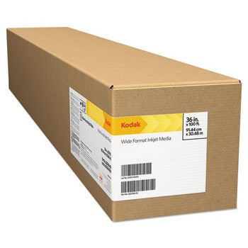 "Kodak KPRO44M Matte, 10.9 mil, 44"" x 100 ft, White Inkjet Photo Paper Roll"