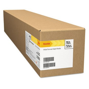 "Kodak KPRO60L Luster, 10.9 mil, 60"" x 100 ft, White Inkjet Photo Paper Roll"