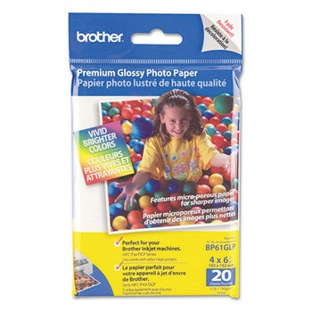Brother Premium Glossy Photo Paper, 4 x 6 Inches, with Innobella Technology
