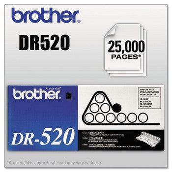Brother DR-520 Black, Standard Yield Drum