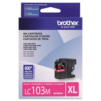 Brother LC-103M Magenta, High Yield Ink Cartridges