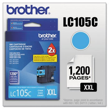 Brother LC-105M Cyan, Super High Yield Ink Cartridges
