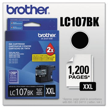 Brother LC-107BK Black, Super High Yield  Ink Cartridges