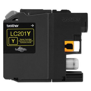 Brother LC-201Y Yellow, Standard Yield Ink Cartridge, Brother LC201Y