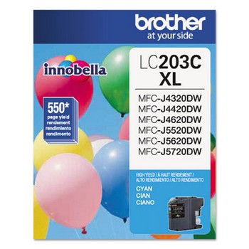 Brother LC-203C Cyan, High Yield Ink Cartridge, Brother LC203C