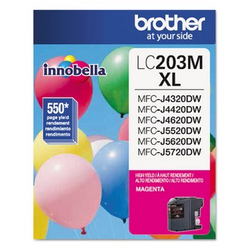 Brother LC-203M Magenta, High Yield Ink Cartridge, Brother LC203M