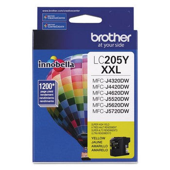 Brother LC-205Y Yellow, Super High Yield Ink Cartridge, Brother LC205Y