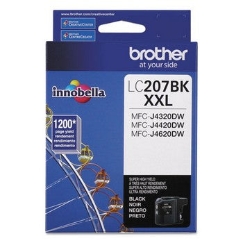 Brother LC-207BK Black, Super High Yield Ink Cartridge, Brother LC207BK