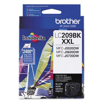 Brother LC-209BK Black, Super High Yield Ink Cartridge, Brother LC209BK