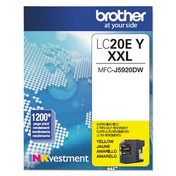 Brother LC-20EY Yellow, Super High Yield Ink Cartridge, Brother LC20EY