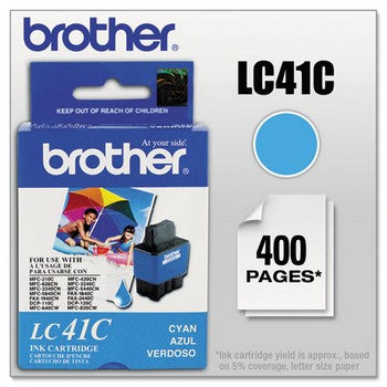 Brother LC-41C Cyan Ink Cartridge