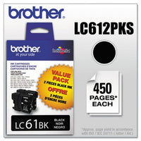 Brother LC-61 Black, Twin Pack Ink Cartridge