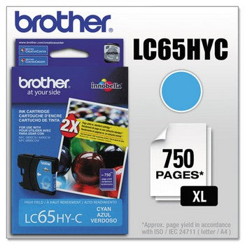 Brother LC-65C Cyan, High Capacity Ink Cartridge