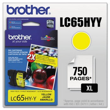 Brother LC-65Y Yellow, High Capacity Ink Cartridge