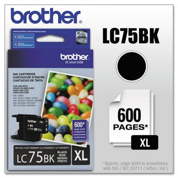 Brother LC-75BK Black, High Yield Ink Cartridge