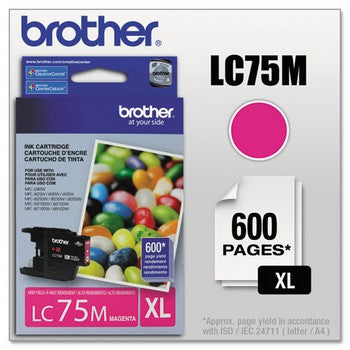 Brother LC-75M Magenta, High Yield Ink Cartridge