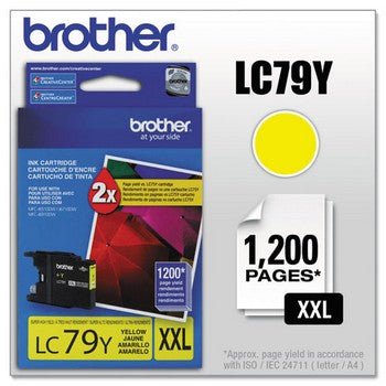 Brother LC-79Y Yellow, Extra High Yield Ink Cartridge