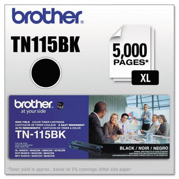 Brother TN-115 Black, High Yield Toner Cartridge