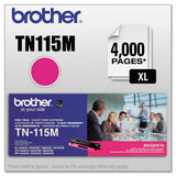 Brother TN-115M Magenta, High Yield Toner Cartridge